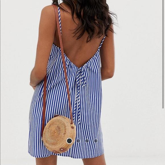 ASOS scoop back mini dress
